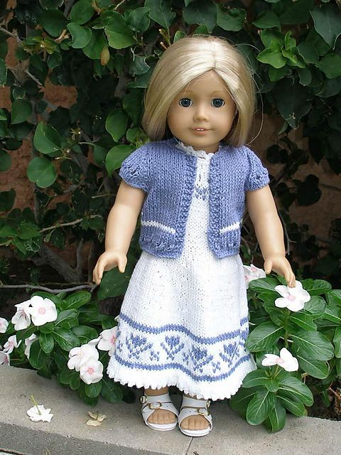 """American Girl 18"""" doll Summer Dress with Short Sleeved Cardigan ..."""
