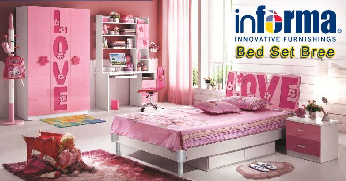 Bree Bed Set Informa Co Id Girls Bedroom Furniture
