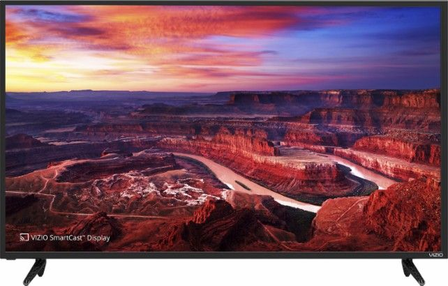 """VIZIO - 50"""" Class (49.5"""" Diag.) - LED - 2160p - with Chromecast Built-in - 4K Ultra HD Home Theater Display - Black - Front Zoom"""