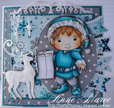 OCTOBER 2015 New Release Showcase Day 2! From our Design Team! Card by Anne-Maree Campbell featuring Christmas Elf Luka with List and these Dies - Snowflake Banner, Reindeer 1, Snowglobe, Fancy Doily Border, Zig Zag Trim Banner, Small Snowflakes :-) Shop now for all of our NEW stamps and Dies here - http://shop.lalalandcrafts.com/NEW_c16.htm Coloring details and more Design Team inspiration here - http://lalalandcrafts.blogspot.ie/2015/10/october-2015-new-release-showcase-day-2.html