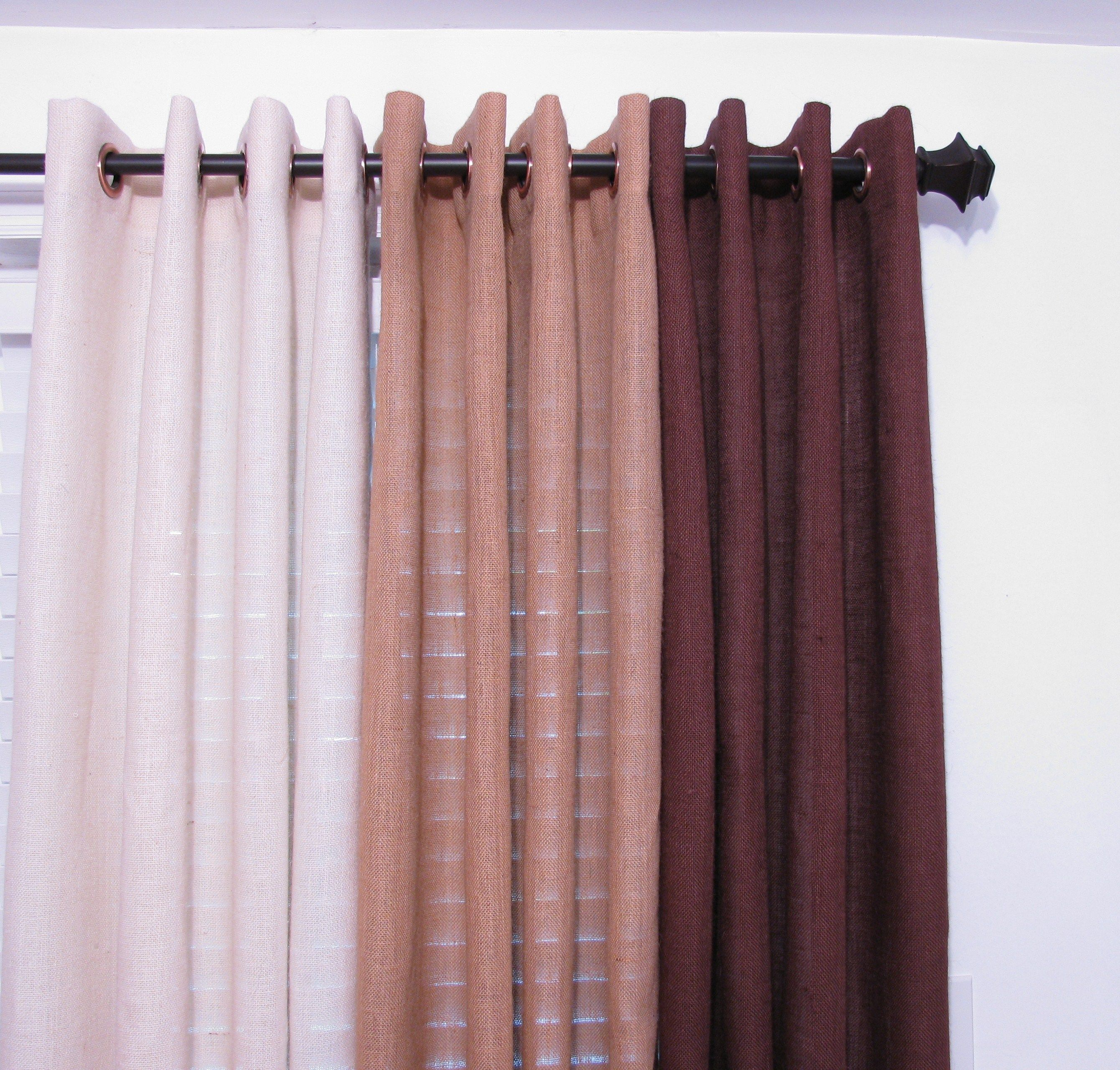Www Etsy Com Bedroom Curtain Burlap Drapery
