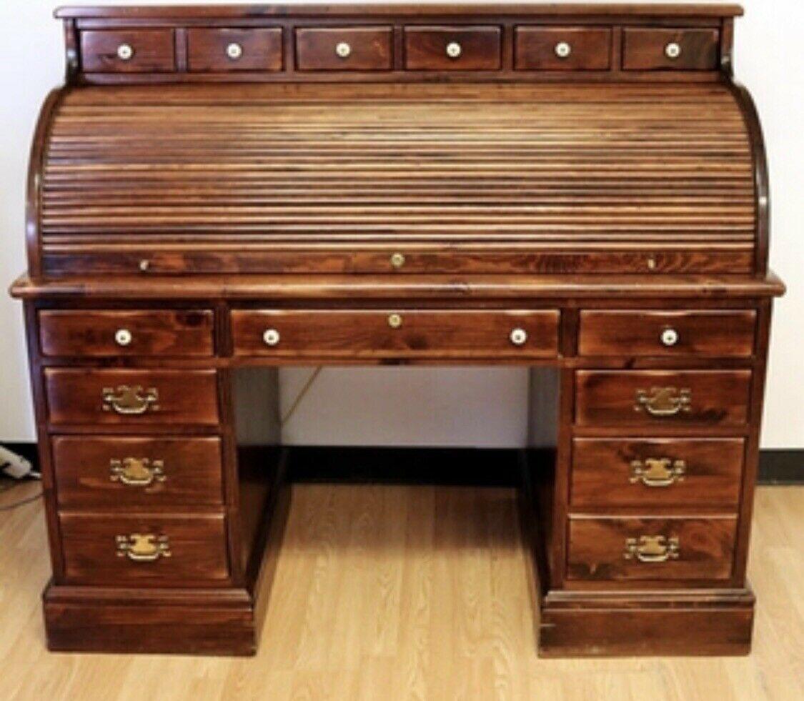 Vintage Antique Ethan Allen Desk Wooden Table Lamps Antique