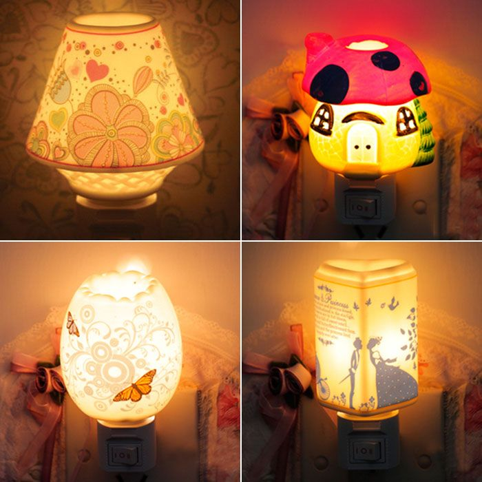 Aliexpress Com Buy Plug In Ceramic Night Light Fashion Aroma