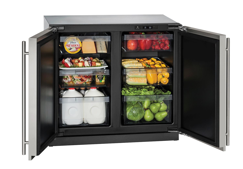 Under Counter Fridge Solid Doors Built In Refrigerator Outdoor Kitchen Appliances