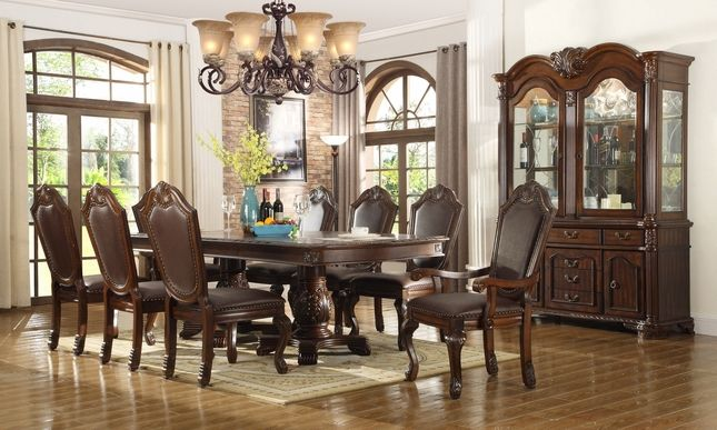 Chateau Traditional Formal Dining Room Furniture Set  Dining Endearing Fancy Dining Room Sets Inspiration