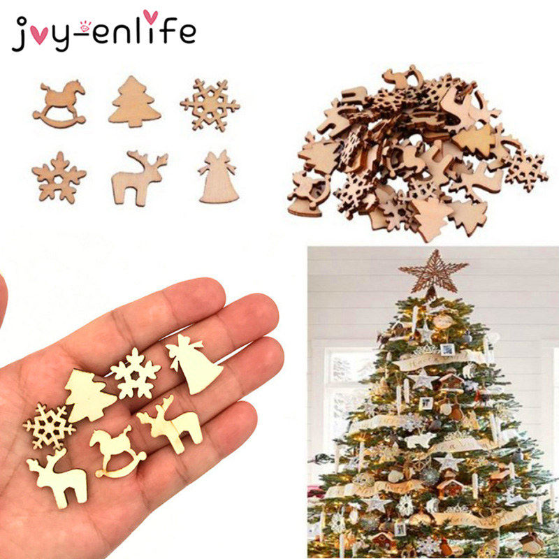 Christmas Wood Ornament DIY Xmas Tree Hanging Pendant Decoration Gifts