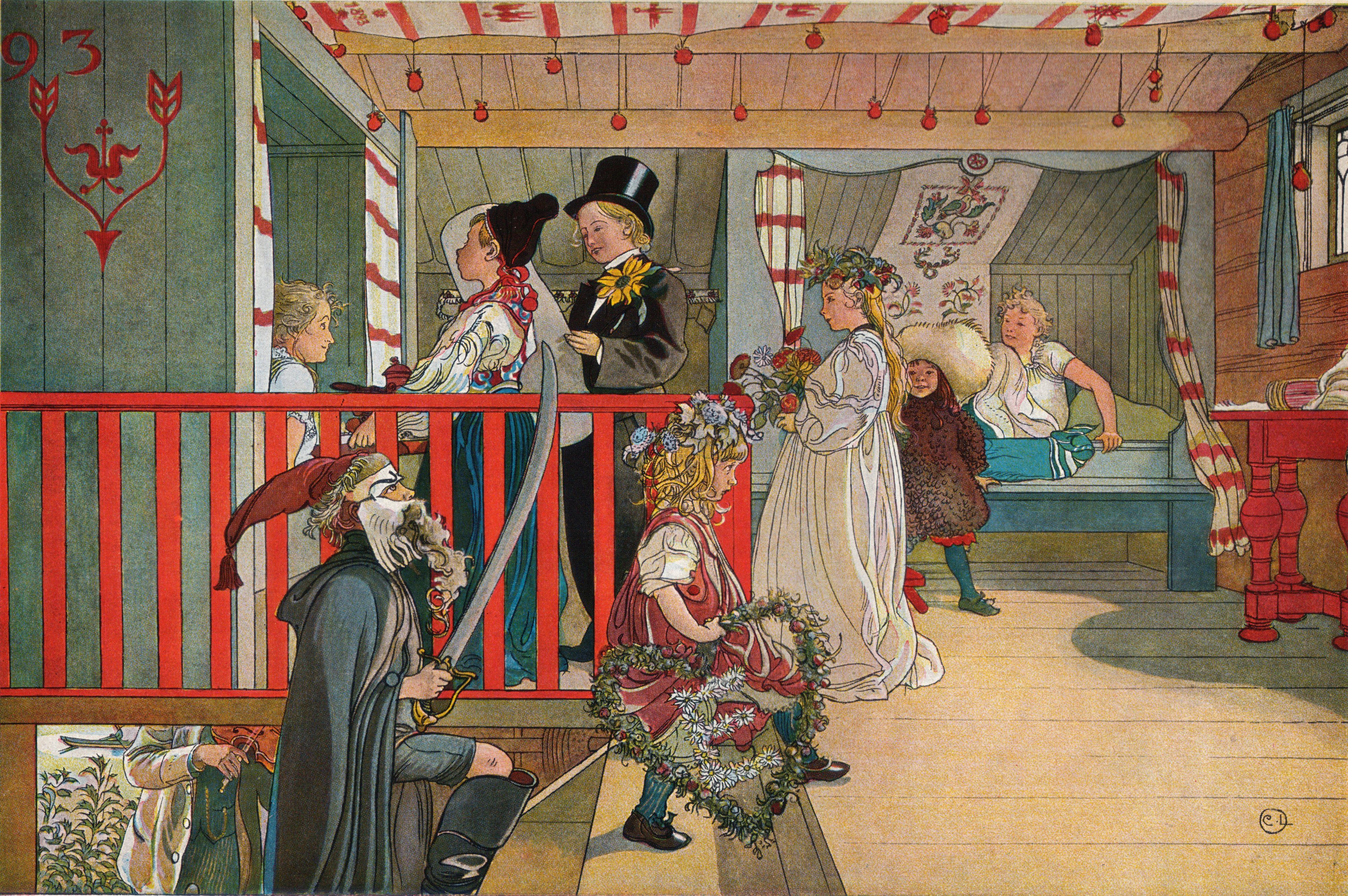 Nameday At The Storage House Carl Larsson Swedish Realist Painter