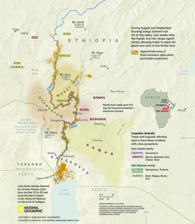 The Omo Valley is located in Southwest Ethiopia Africa National