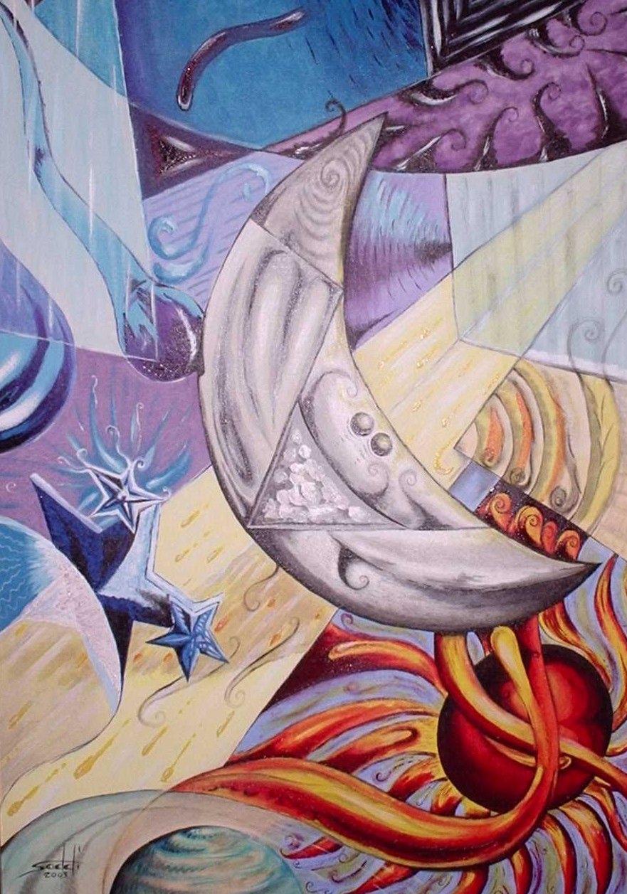 O universo - Tinta acrílica sobre tela - 50x70
