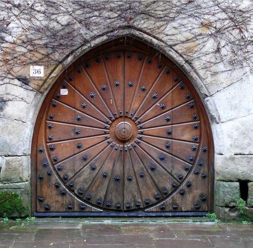 Beautiful Round Wooden Door
