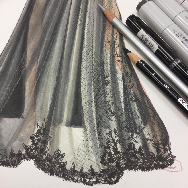 Fashion Illustration By Adobe Illustrator Donna Karan