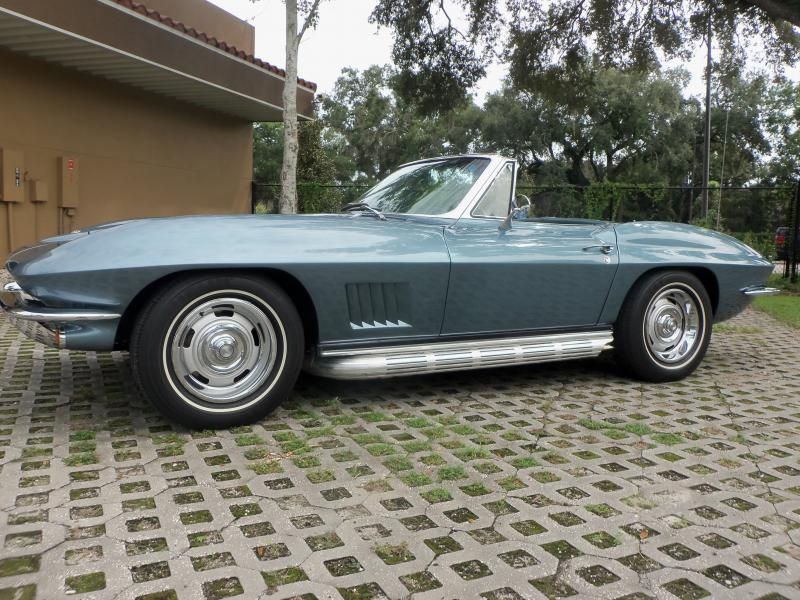 67 Lynndale blue conv  #s matching 327 1967 Corvette Convertible For