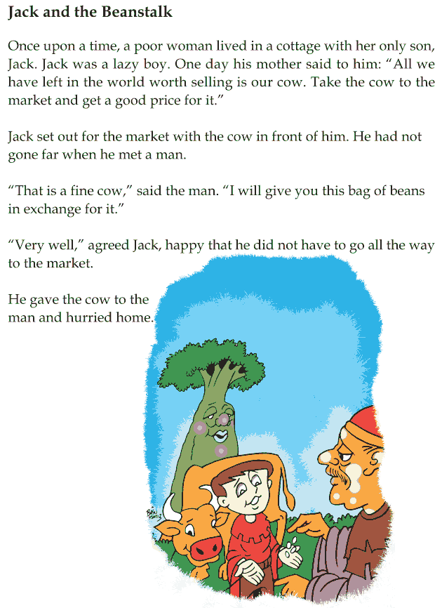 grade 1 reading lesson 24 fairy tales jack and the beanstalk 1 english reading comprehension. Black Bedroom Furniture Sets. Home Design Ideas