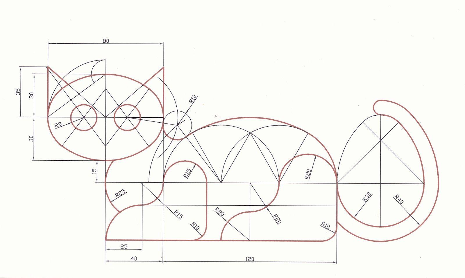Figuras Geometricas De Animales Con Acotaciones Buscar Con Google Tangencias Ejercicios De Dibujo Tecnicas De Dibujo