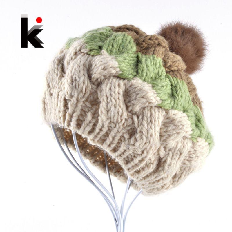2016 de invierno Moda mujer floppy boina sombrero femenino gorra de ...