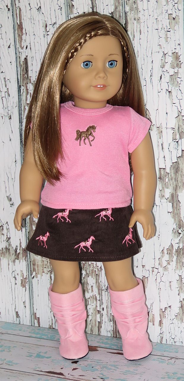 Silly Monkey - Light Pink Horse Tee and Brown Skirt, $13.99 (http://www.silly-monkey.com/products/light-pink-horse-tee-and-brown-skirt.html)