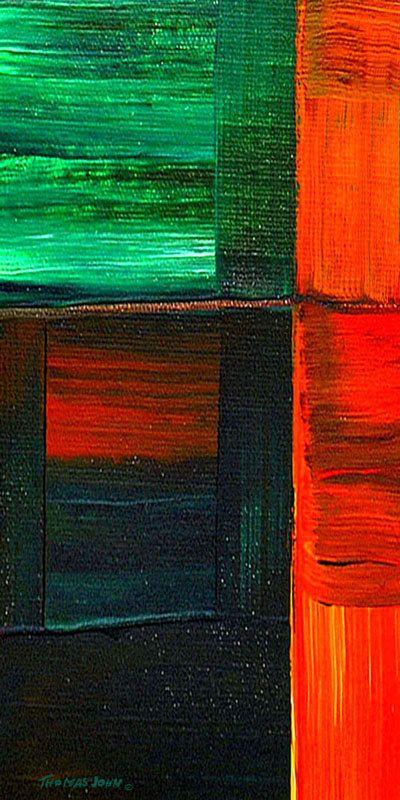 ORIGINAL ABSTRAKT Gemälde große 48 x 24 von THOMASJOHNARTGALLERY