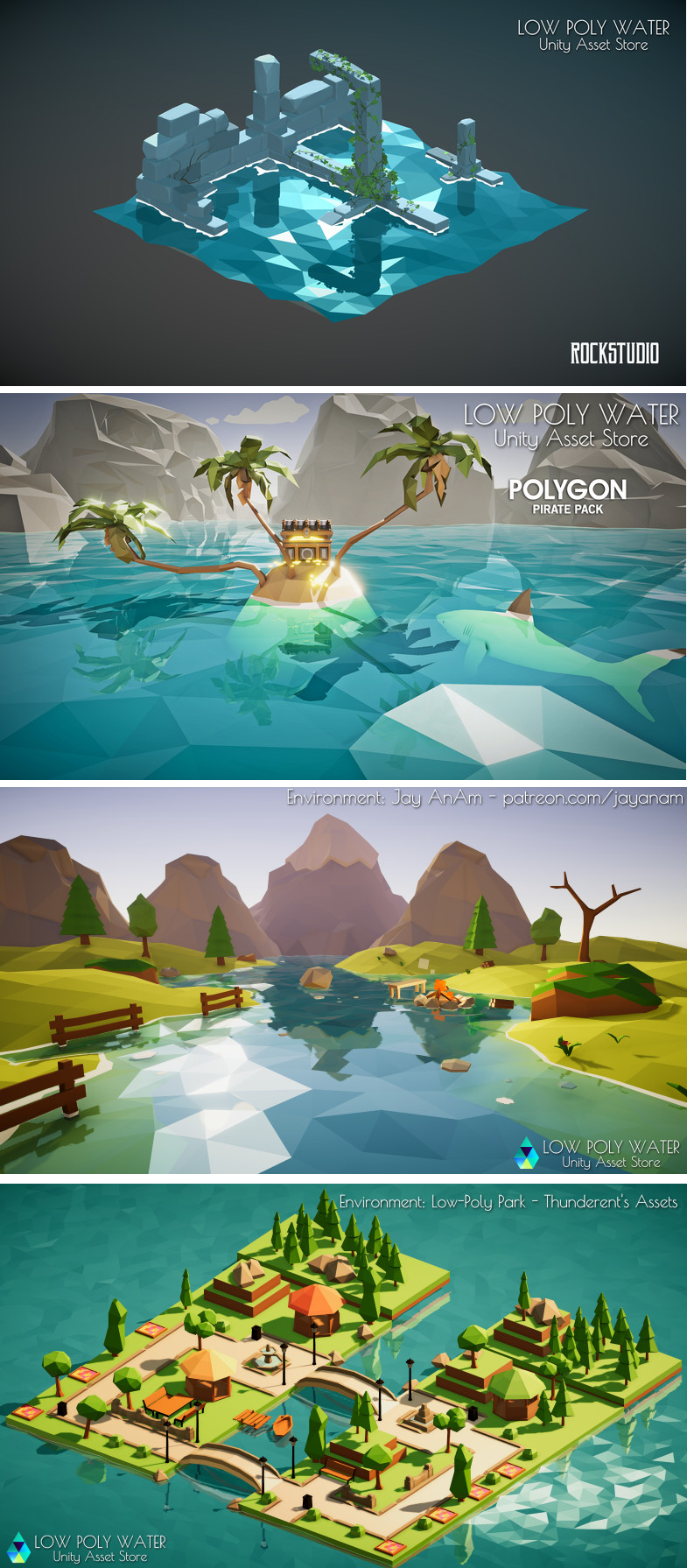 Low Poly Water GPU This package provides the tools to