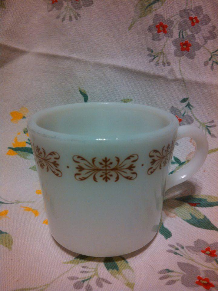pyrex small coffee mug
