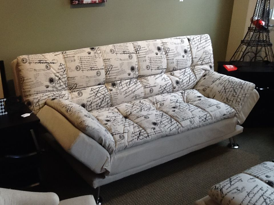 paris themed futon with adjustable arm rests couches futons pinterest. Black Bedroom Furniture Sets. Home Design Ideas