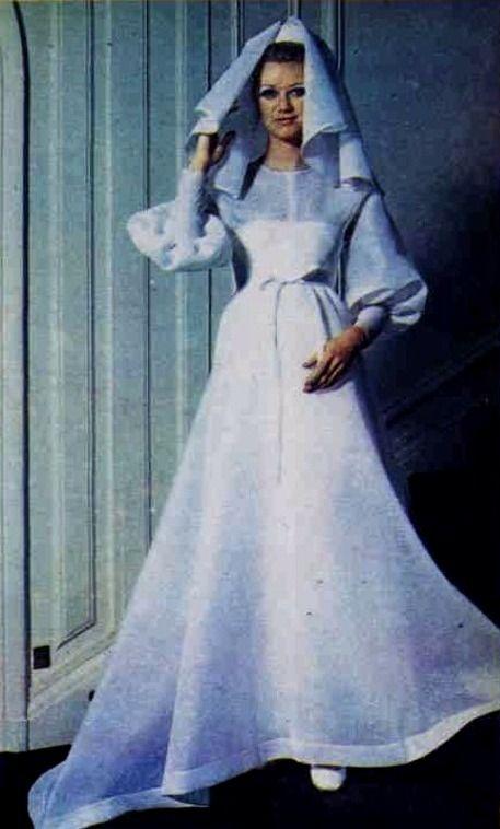 1970 Hubert de Givenchy. wedding fashions   \
