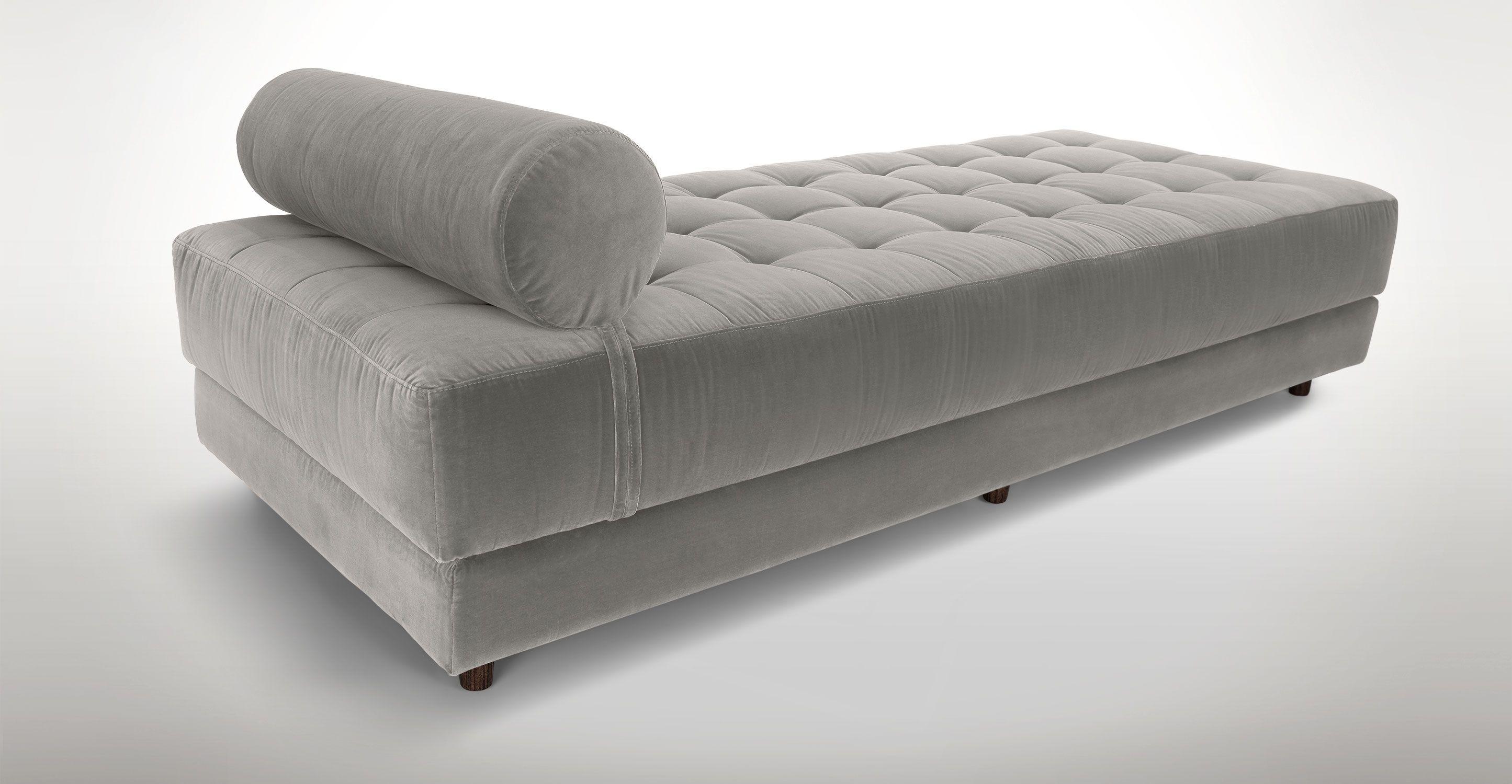 Gray Velvet Tufted Daybed Article Sven Modern Bedroom Furniture