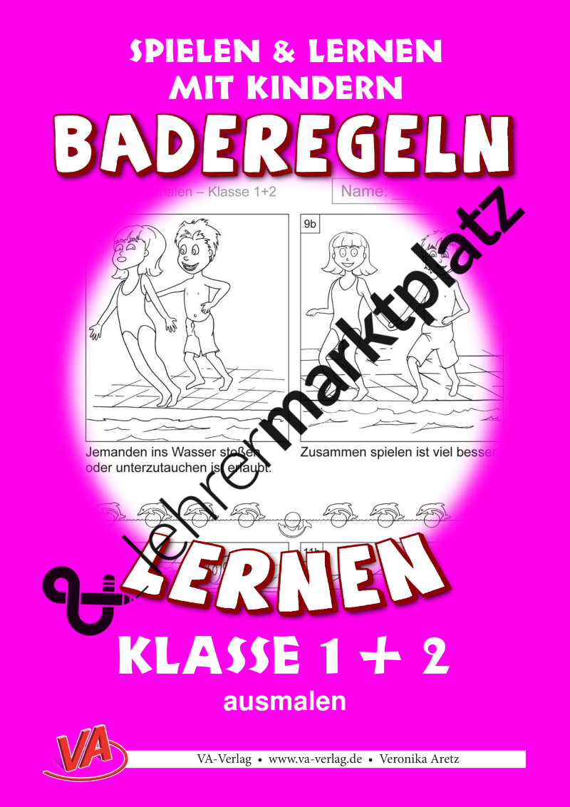 Baderegeln lernen - Klasse 1+2: ausmalen – Sport | Sport ...