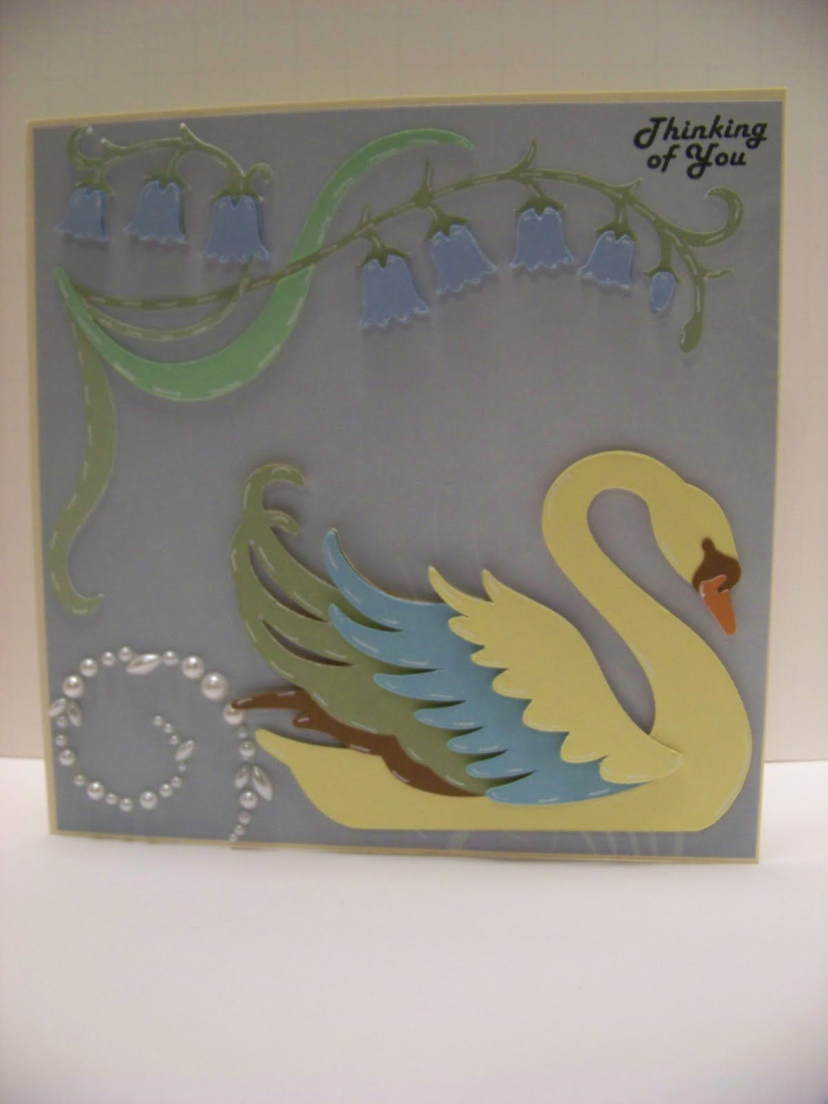How to make scrapbook using illustration board - Exploring Cricut Art Nouveau Love The Swan On This Cartridge I Ll Have