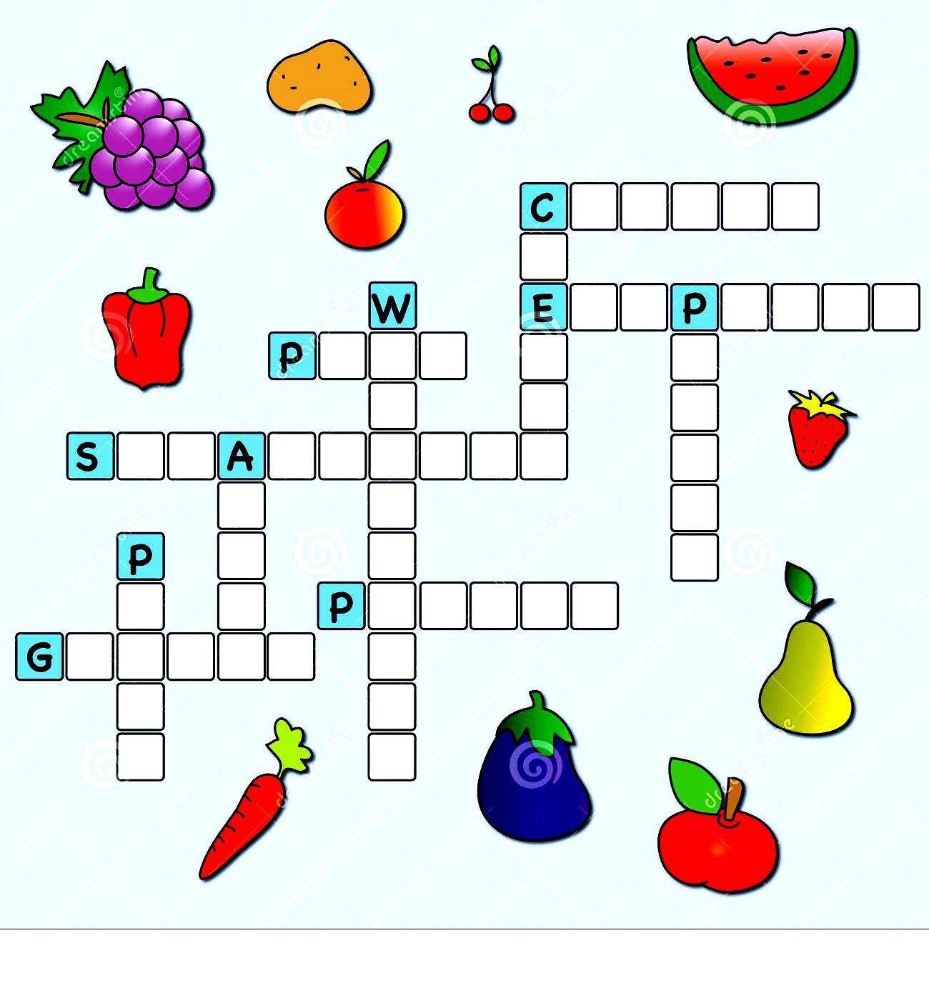 Free Crosswords For Kids Easy