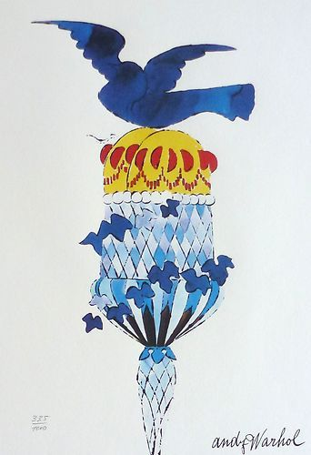 ANDY WARHOL - ICE CREAM CONE WITH BLUEBIRD