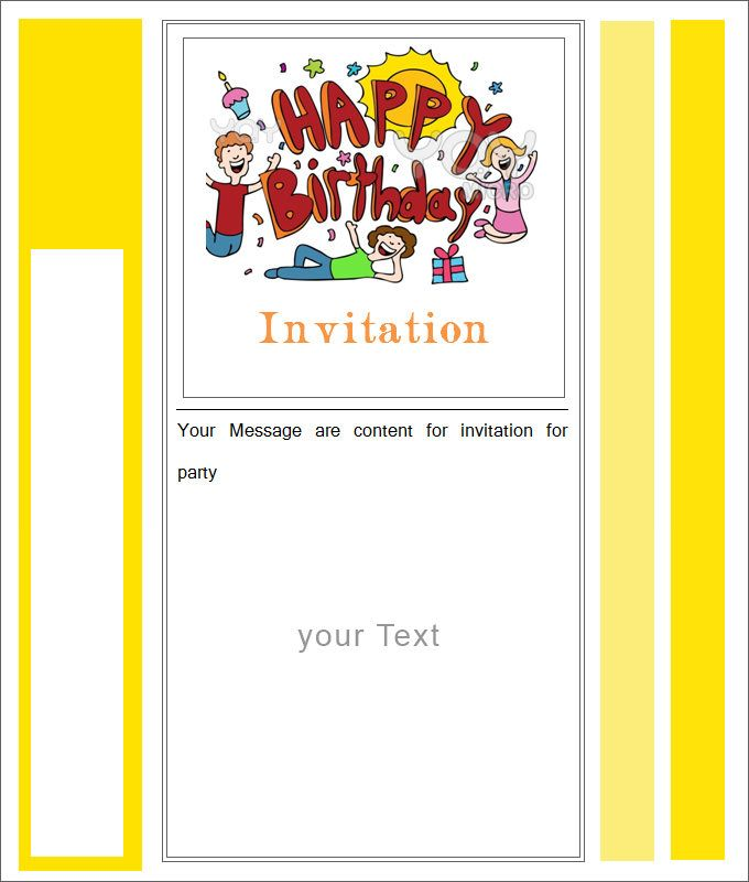 Cool Blank Invitation Card Template Free Download 40 About