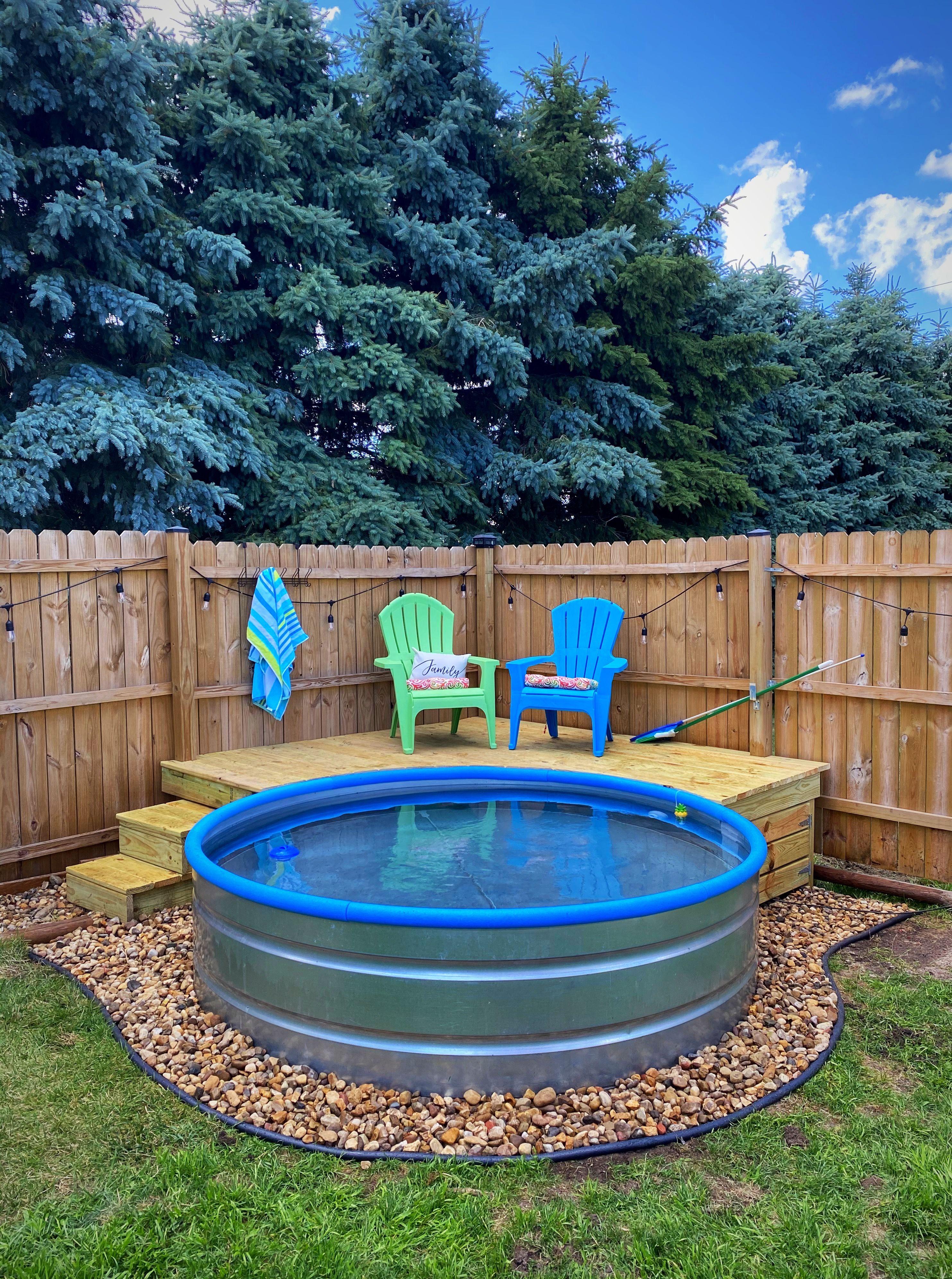 Pin By Brenda Eynatten On Stock Tank Pool In 2020 Small Backyard Pools Backyard Pool Stock Pools