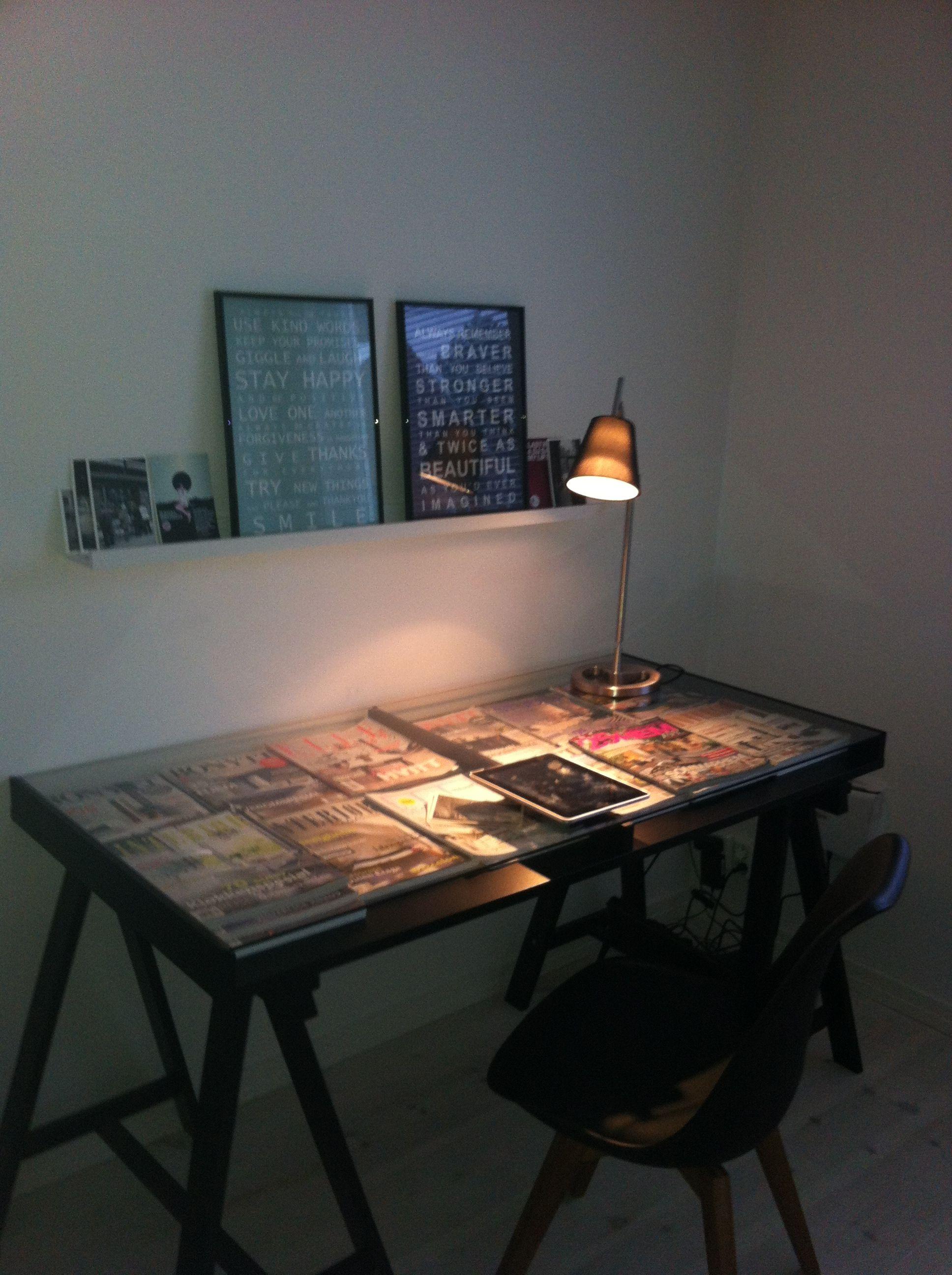 Fint skrivebord.