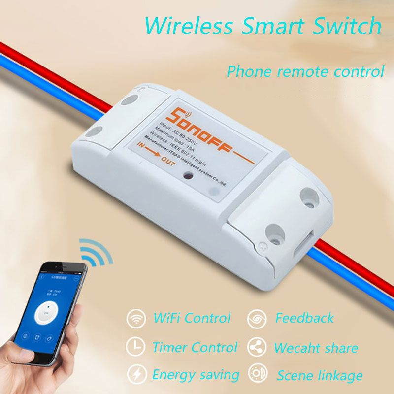 ITEAD Sonoff Smart Home Wireless Remote Control Switches ...