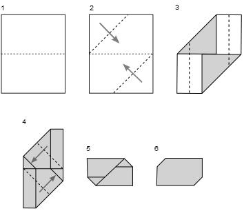 pliage d 39 une lettre enveloppe enveloppe origami enveloppes et origami. Black Bedroom Furniture Sets. Home Design Ideas