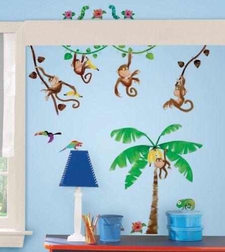 RoomMates® 27 Wandtattoos Wandsticker rückstandslos ablösbar Affen ...
