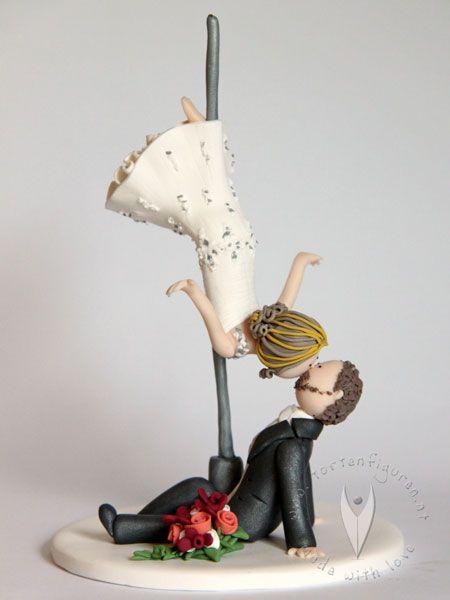 Poledance Brautpaar Fur Die Hochzeitstorte Hochzeitstortenfigur