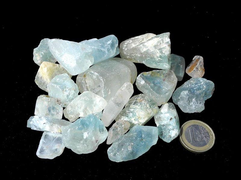 Tiny Mini Stones Blue Lace Agate XX Small Tumbled Stones Orgonite Stones