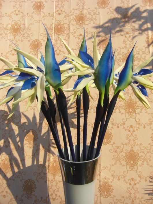 92cm Long Artificial Strelitzia Reginae Bird Of Paradise Flowers Natural Real Touch For Tropical Flowers Bouquet Paradise Flowers Artificial Flower Bouquet