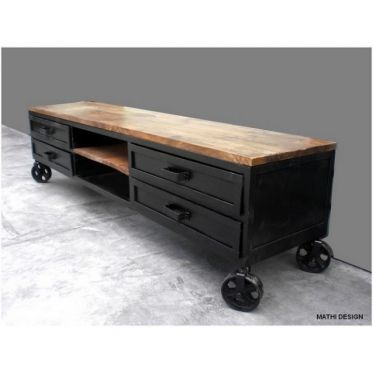 Meuble Tv Industriel 160 Industrial Tv Stand Furniture