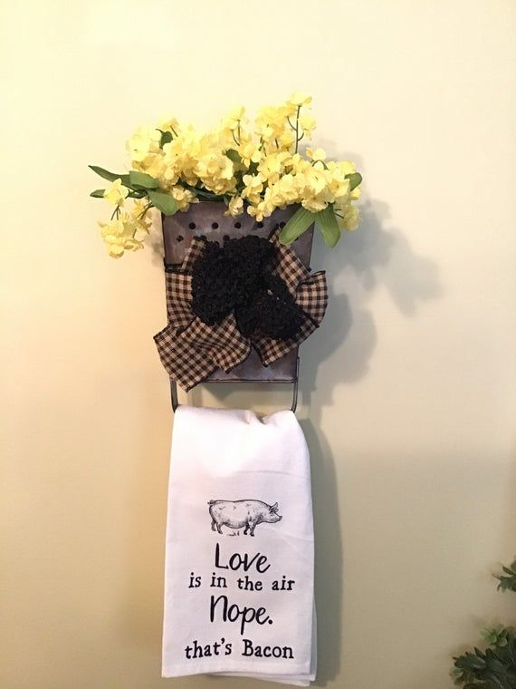 Vintage decorative cheese grater with flowers and cute towel