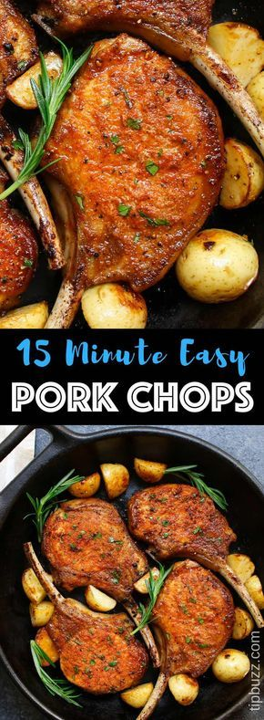 Pan Fried Pork Chops {Never Make a Dry Pork Chop Again!} - TipBuzz #grilledporkchops