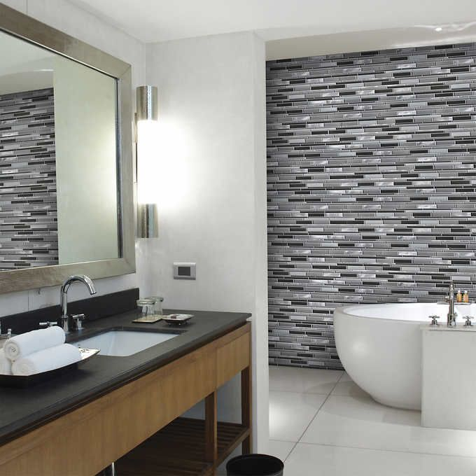 Beautiful Kitchen And Bathroom Mosaic: Golden Select Glass And Aluminum Mosaic Wall Tiles