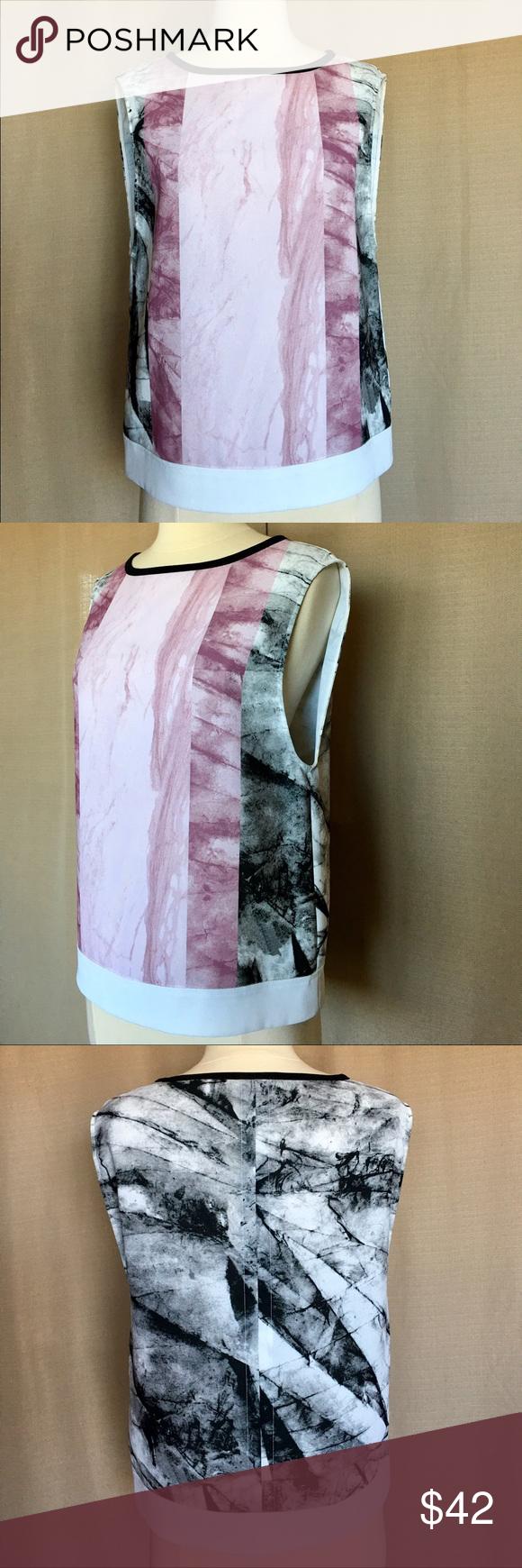 ❤️HELMUT LIANG HYDRA MARBLE PRINT TOP   Clothes design, Print ...
