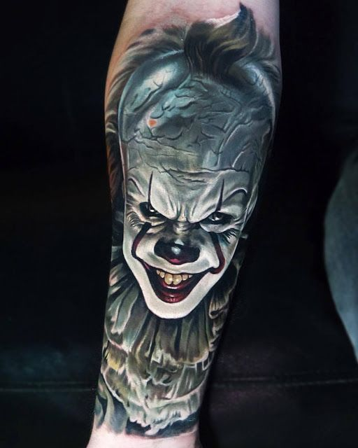 Pennywise - Best Forearm Tattoos - Cool Ideas And Designs | Forearm ...