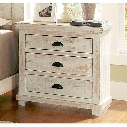 Willow Distressed White Nightstand Distressed Bedroom Furniture Progressive Furniture White Nightstand White distressed night stands