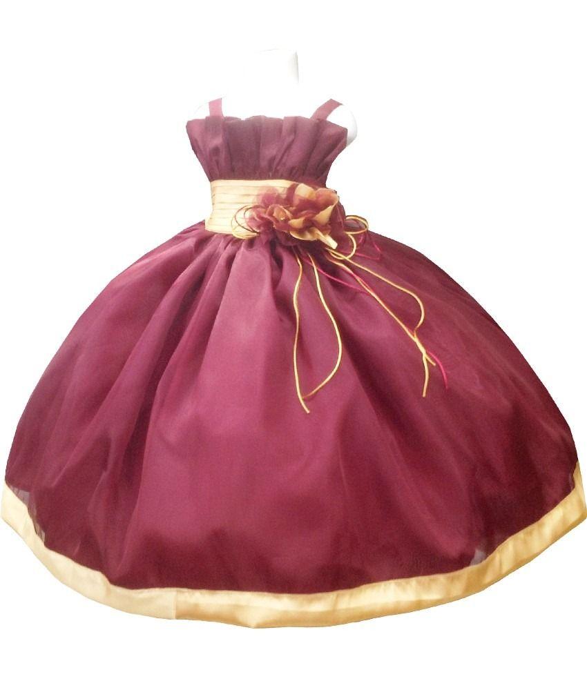Vestido Color Vino Para Niñas Buscar Con Google Vestidos