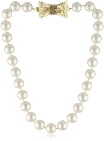 "Amazon.com: kate spade new york ""All Wrapped Up"" Pearls Short Necklace: Jewelry"