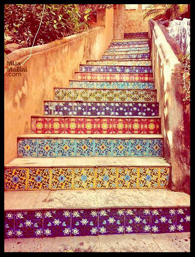 Tiled Stair Risers (home, Decor, Interior, Malibu Tile, Catalina Tile,