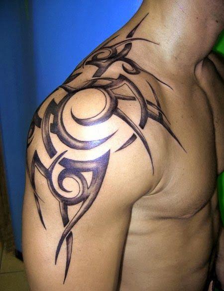 Upper Back Tattoos For Men Best Tattoos Tribal Shoulder Tattoos Mens Shoulder Tattoo Tribal Tattoos